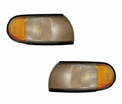PAIR of Corner Lights - Left & Right - Fits OE# F6XZ-13201AA, F6XZ-13200AA
