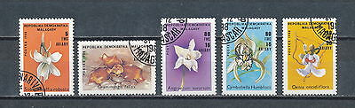 Malagasy #910-14 used, Orchids 1989