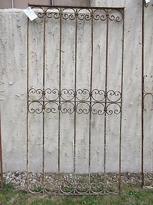 Antique Victorian Iron Gate Window Garden Fence Architectural Salvage Door #331