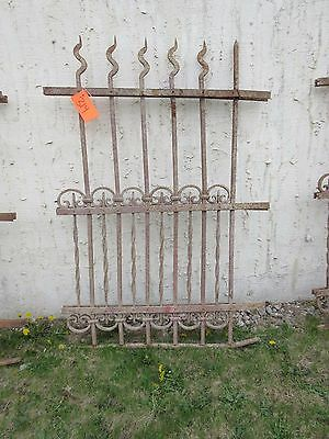 Antique Victorian Iron Gate Window Garden Fence Architectural Salvage Door #314