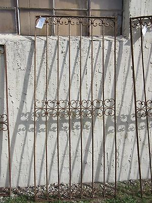 Antique Victorian Iron Gate Window Garden Fence Architectural Salvage Door #352
