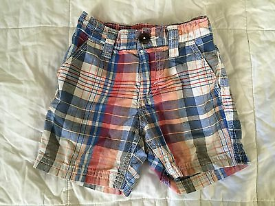 Old Navy Baby boy plaid shorts 12-18 months old