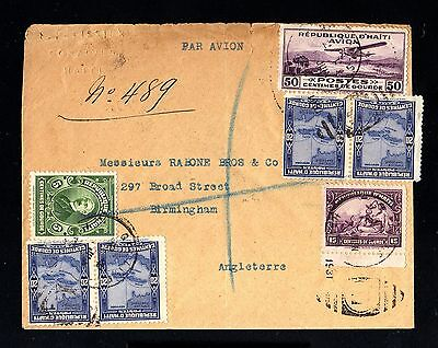 14018-REPUBLIC of HAITI-AIRMAIL COVER PORT au PRINCE to ENGLAND.1931.WWII.