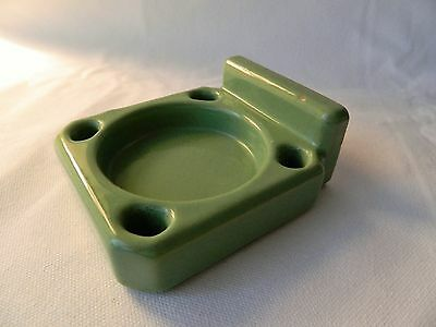 Vintage Green Jadeite Porcelain Wall Toothbrush Cup Holder