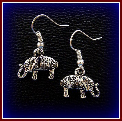 Detailed ELEPHANT EARRINGS - Republican GOP theme Jewely - U. of ALABAMA