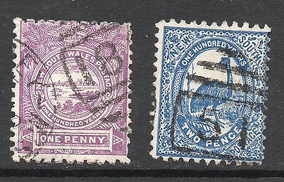 New South Wales #77-78 used
