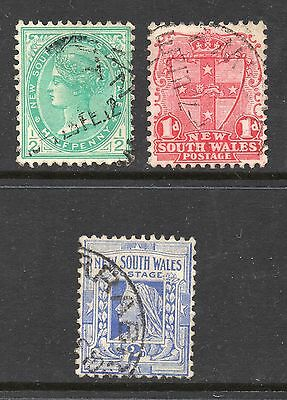 New South Wales #109-111 used