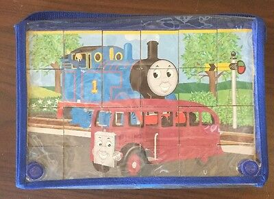 Thomas The Tank Engine Train Block Multi Puzzle with Case Picture Cubes