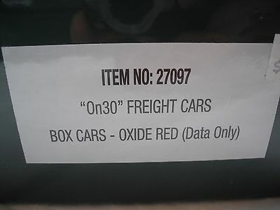 Spectrum 27097 Box Freight Train Car, Oxide Red (Data Only), On30 Scale
