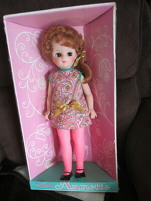 """Big Eyed 1960's Annette Doll by Eegee very Mod 17"""" doll  in  original box"""