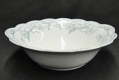 "Johnson Bros The Lothair 9"" Round Serving Bowl Blue Gold Trim Rope Edge Rare"