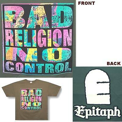 Bad Religion No Control Epitaph Green T-Shirt Xl X-Large New Official