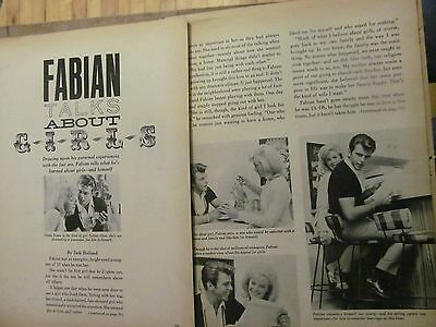 Fabian, Four Page Vintage Clipping