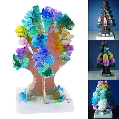 DIY Magic Growing Crystal Tree Christmas Paper Science Toy XMAS Party Decor Q