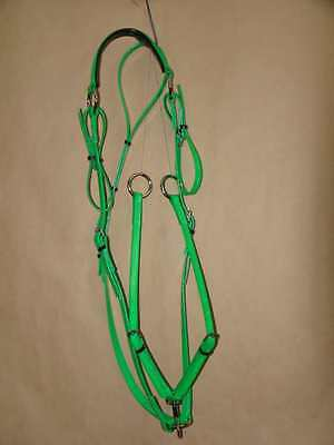 PVC Stockmans Breastplate with Rings - Lime Green/Black