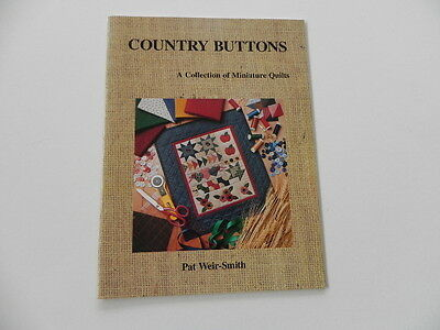 Country Buttons - A Collection of Miniature Quilts - soft cover book
