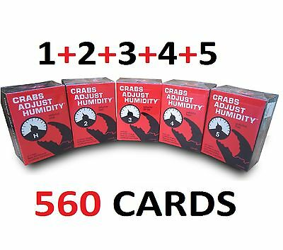 CRABS ADJUST HUMIDITY Volume 1-5 CAH Expansion Pack *NEW* - Ship from Melbourne