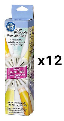 Wilton 12 Inches DECORATING BAG Disposable 50 Pack Cake Piping/Icing (12-Pack)