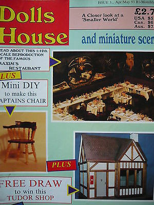 Dolls House And Miniature Scene Magazine Issue 3 - Mini Diy/captains Chair