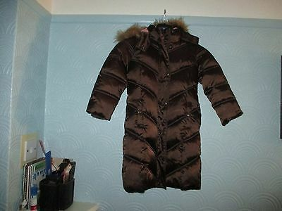 Girls Brown GAP Kids long Coat (Size: XS)