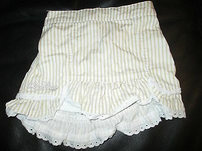 Girls Brown & White Striped Rocawear Skirt (Size: 3T/3-4 Years)