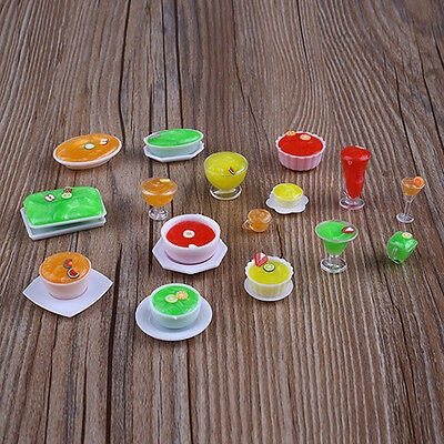 17Pcs/set Dollhouse Mini Drink Cup Goblet Dish Plate Tableware Decor Recommended