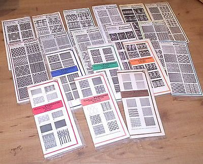 18 Vintage Empisal Knitmaster Handy Punch Pattern Sets For Knitting Machine