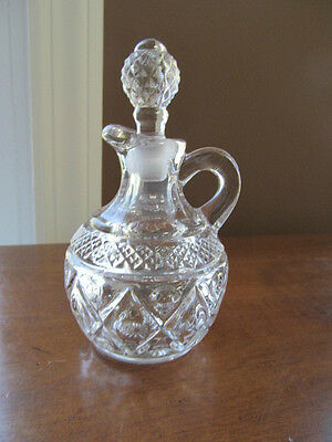 Vintage Imperial Clear Glass CAPE COD Cruet
