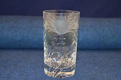 Lovely Royal Brierley Crystal Cut Glass Honeysuckle Tumbler Glass RD6362