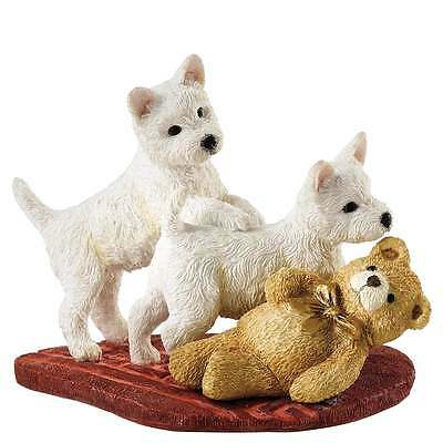 Border Fine Arts Twos Trouble Westie Pups Dog Figurine New Boxed A27510