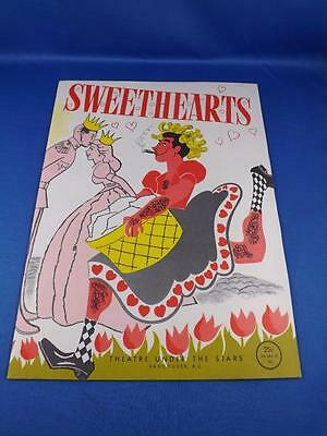Sweethearts Souvenir Programme Theatre Under The Stars Vancouver B.c. 1954
