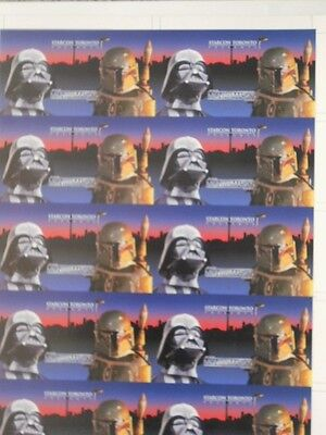 Star Wars Starcon rare uncut card sheet (only issued in Canada )1997