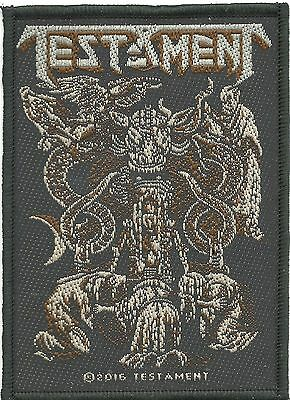 TESTAMENT gothic 2016 - WOVEN SEW ON PATCH official merchandise