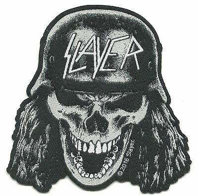 SLAYER skull helmet 2016 - shaped - WOVEN SEW ON PATCH official merchandise