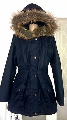 M&S - Girls Navy Winter Coat Age 11-12