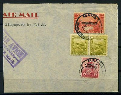 16-10-00533 - Philippines 1938 Mi.  - US 100% Cover Air Mail Avion