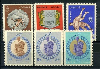 16-10-00841 - Persia 1967 Mi.  1348,1365 MNH 100% Olympic Games King Mohammad Re