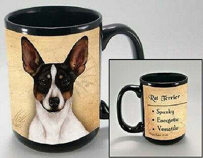 15 oz. Faithful Friends Mug - Rat Terrier MFF141