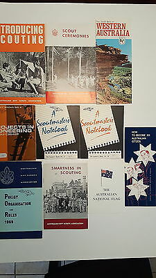 1960's Australian Boy Scouts Association Books and Pamphlets (10 Total)