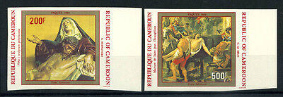 16-10-05296 - Cameroon 1984 Mi.  1032-1033 MNH 100% Imperf Art Paques