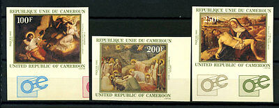 16-10-05327 - Cameroon 1982 Mi.  970-972 MNH 100% Imperf. Art Painting Delacroix