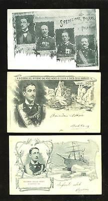 Arctic Exploration: Italian North Pole Expedition 1899, commemorative cards