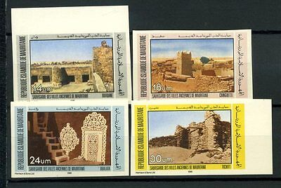 16-10-05432 - Mauritania 1983 Mi.  783-786 MNH 100% Imperf. Ancient cities. Arch