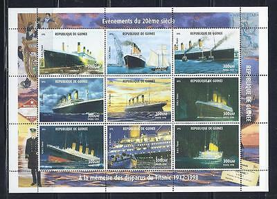 D1531 MNH 1998 $300 X Large Sheet of 9 Different Views of the Ship Titanic S/S