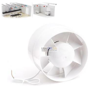 "6"" inch Inline Duct Fan Booster Exhaust Blower Air Duct Cooling Vent ABS Blade"