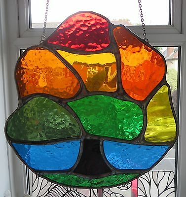 Changing Tree! Stunning NEW Autumn Stained Glass Suncatcher  - pewtermoonsilver