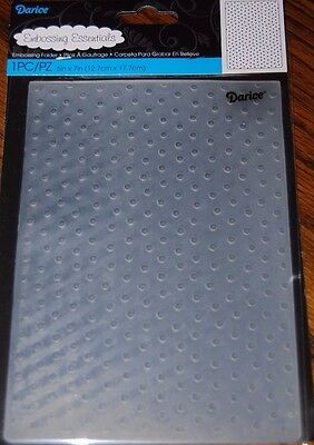 Darice ~ DOT ~  5 X 7 Universal Embossing Folder 1217-67
