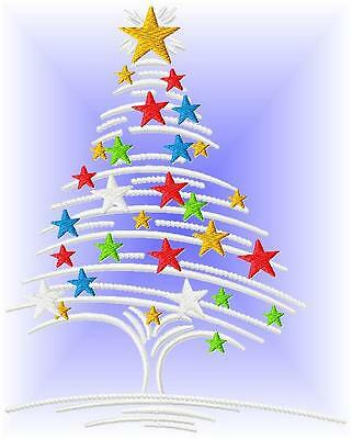 Chriistmas Trees 10 Machine Embroidery Designs 4 Sizes