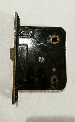 "Yale Mortise Vintage Door Latch 3 1/2"" Long 4 3/8"" Tall No Key"