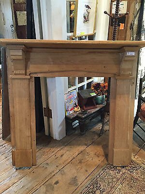 19th C PINE FIREPLACE MANTLE